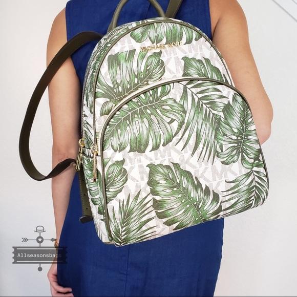 55afd17a067a Michael Kors Bags | Nwt Abbey Medium Olive Backpack Bag | Poshmark